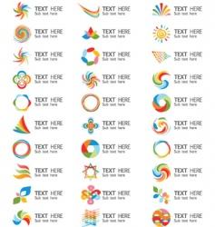 swirl logos vector image vector image