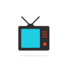 tv icon with shadow vector image vector image