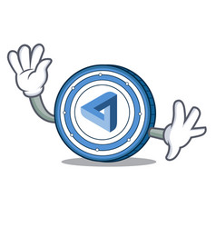 waving maidsafecoin character cartoon style vector image