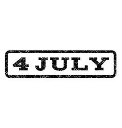 4 july watermark stamp vector