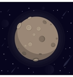 A large glowing moon with vector