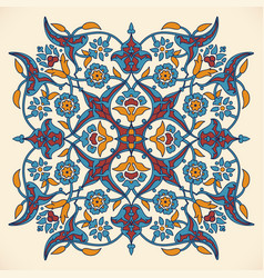 Arabesque vintage elegant floral decoration print vector