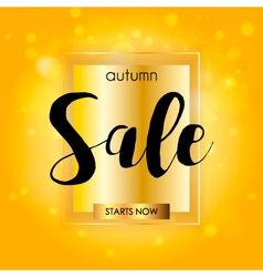Autumn sale season design on orange background vector image