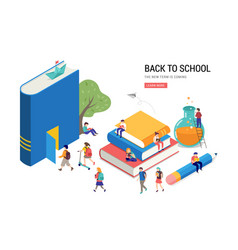 Back to school books education and research vector