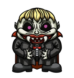 Cartoon vampire kid vector