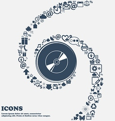 Cd DVD compact disk blue ray icon sign in the vector image