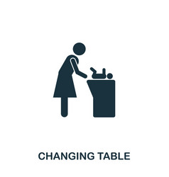 changing table icon mobile apps printing and vector image