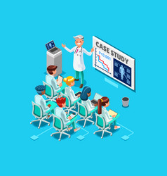 clinic medical research isometric people vector image