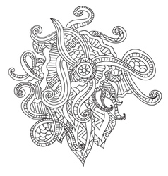 Coloring pages for adults Decorative hand drawn vector