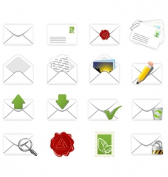 Correspondence icons vector