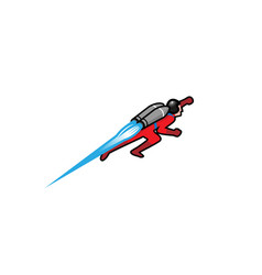 Creative red jetpack logo vector