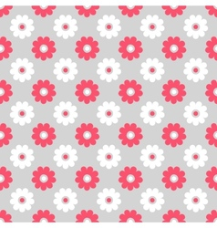 Cute different seamless pattern Pink white and vector image