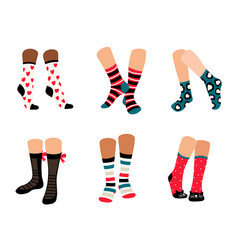 cute socks collection vector image