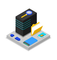 Data centre isometric 3d icon vector