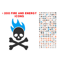 death fire icon with bonus flame clipart vector image