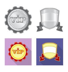 Design of emblem and badge symbol vector