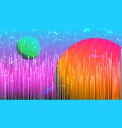 Digital futuristic space background vector