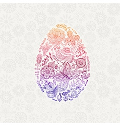 Easter egg made of flowers floral Easter egg vector image