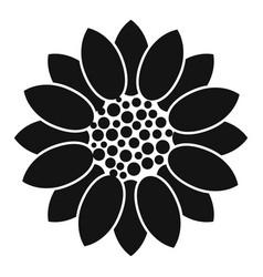 Farm sunflower icon simple style vector