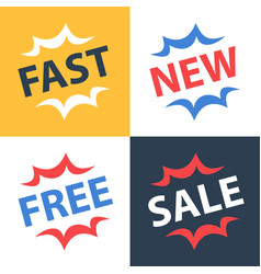 fast services new collection free offer vector image