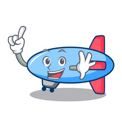 Finger zeppelin mascot cartoon style vector