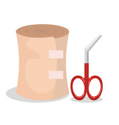 First aid band icon vector