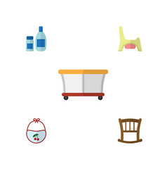 flat child set of playground cream with lotion vector image
