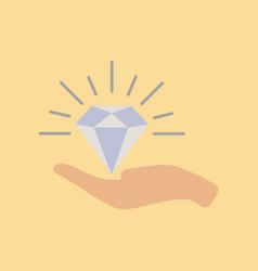Flat icon on stylish background poker diamond in vector