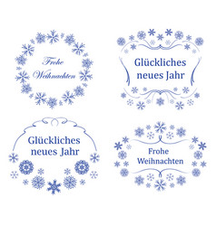 Frames on german - decorations for christmas vector