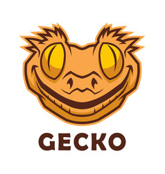 Gecko head character vector