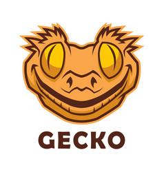 gecko head character vector image