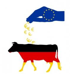 German cow and European subsidies vector image