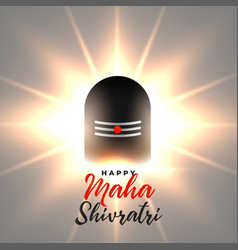 Glowing lord shiv shivling maha shivratri vector