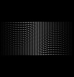 Halftone convex distorted circle dots background vector