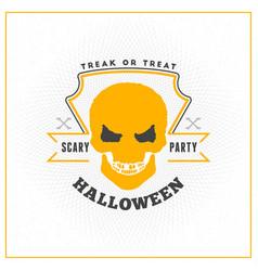 Happy halloween badge sticker label design vector