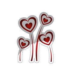 hearts icon image vector image