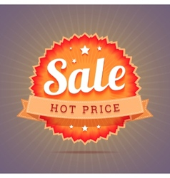 Hot price badge vector image