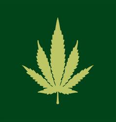 hybird cannabis logo icon vector image