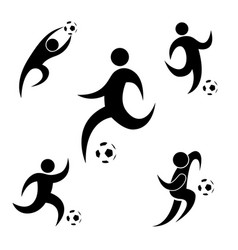 icon prayer soccer football flat drsign simple vector image