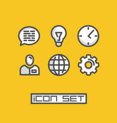 icons set business office vector image