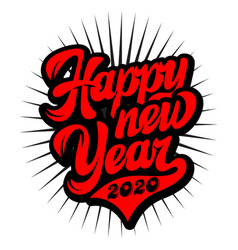 in retro style on theme new year vector image