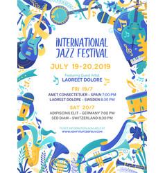 International music contest poster template vector
