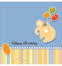Its a baby boy announcement card vector