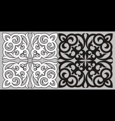 Kazakh pattern vector