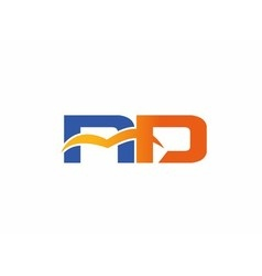 Letter n and d logo vector