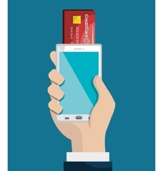 mobile banking design vector image