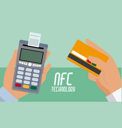 Nfc technolgoy payment vector