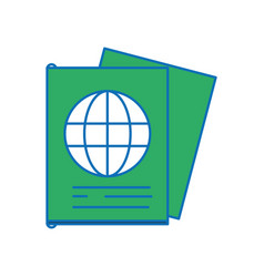 Passport document id to international travel vector