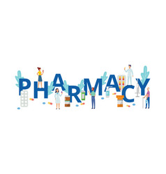 Pharmacy medicine and drugstore concept vector