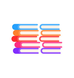 pile of books icon vector image